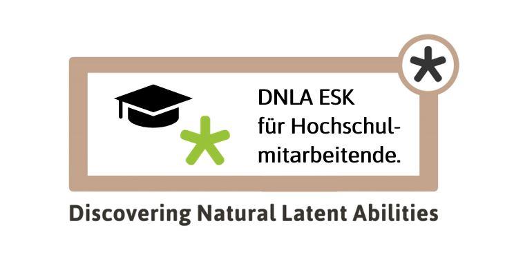 Logo: DNLA für Hochschulmitarbeitende, entwickelt zur Personalenrtwicklung an Hochschulen.